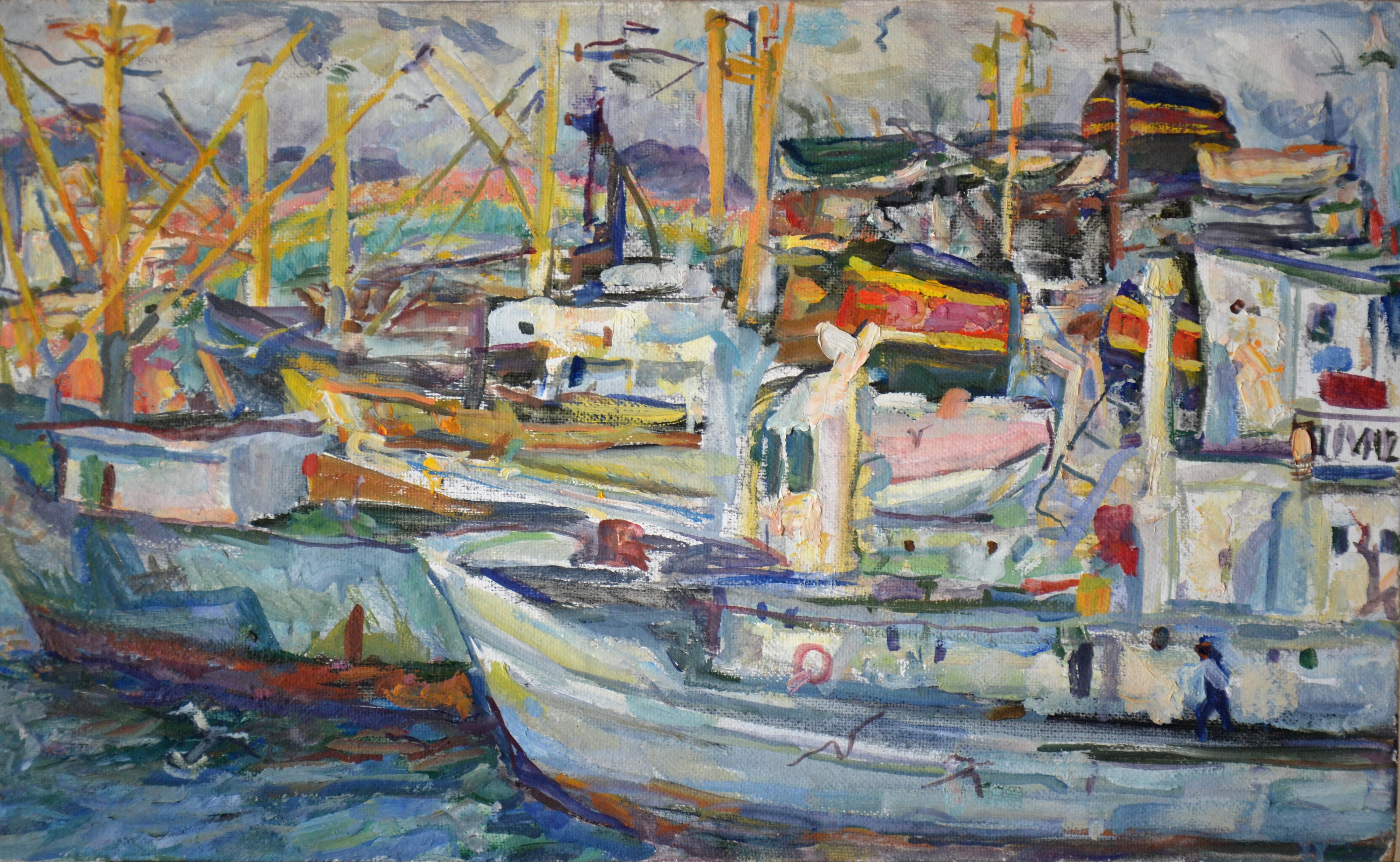 Владивосток, вид с корабля «Академик Мстислав Келдыш» перед отходом