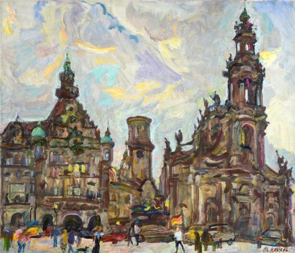 Дворцовая площадь в Дрездене