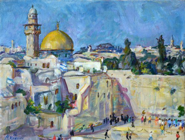 Иерусалим, Стена плача и мечеть Купола над Скалой